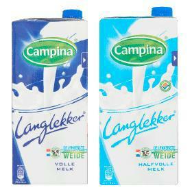 Campina Langlekker melk 1+1 gratis Jan Linders