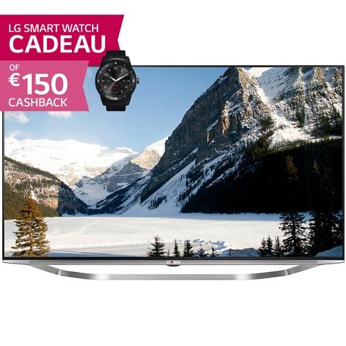 LG 55UB950V Ultra HD 3D Smart-TV voor € 1249 (na cashback) @ Foka