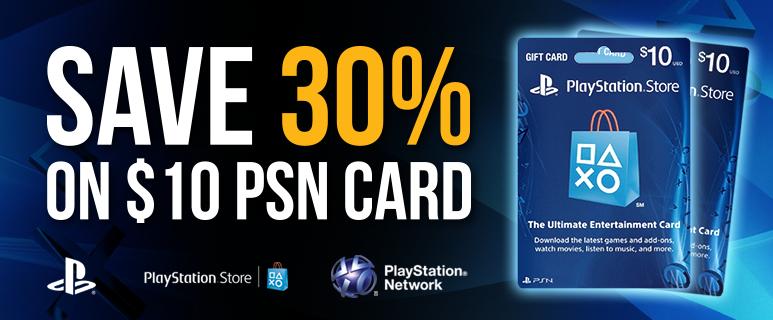 $10 PSN tegoed voor €6,49 @PCGamesupply
