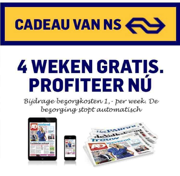 4 weken krant naar keuze voor €4