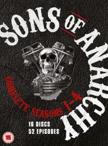 Sons of Anarchy - Seizoen 1 t/m 4 (DVD) voor €12,79 @ Zavvi