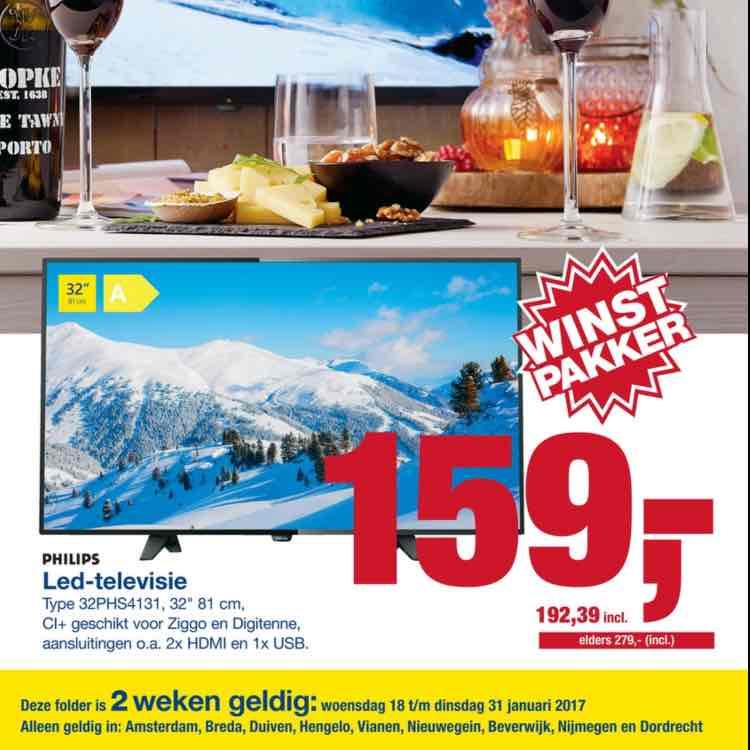 Philips 32PHS4131 32 inch led tv voor €192,39 @ Makro