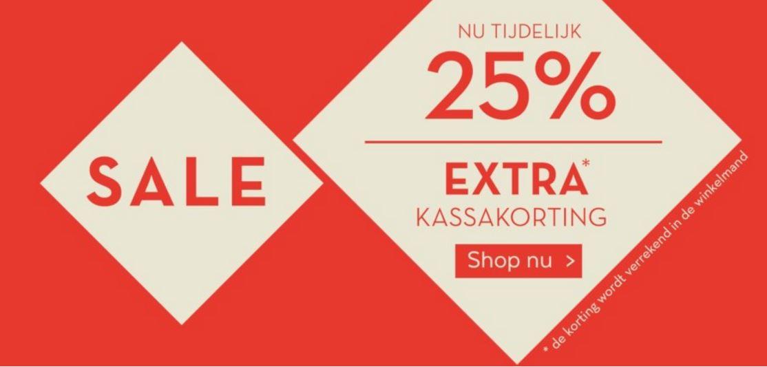 Sale - nu 25% extra korting op alles @ Miss Etam