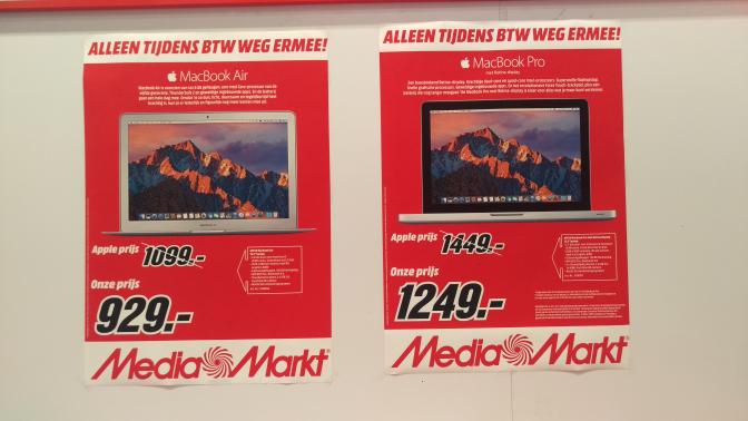 Korting op MacBooks bij Media Markt