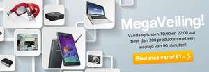 Vandaag tussen 10:00 en 22:00 MegaVeiling @ Mycom
