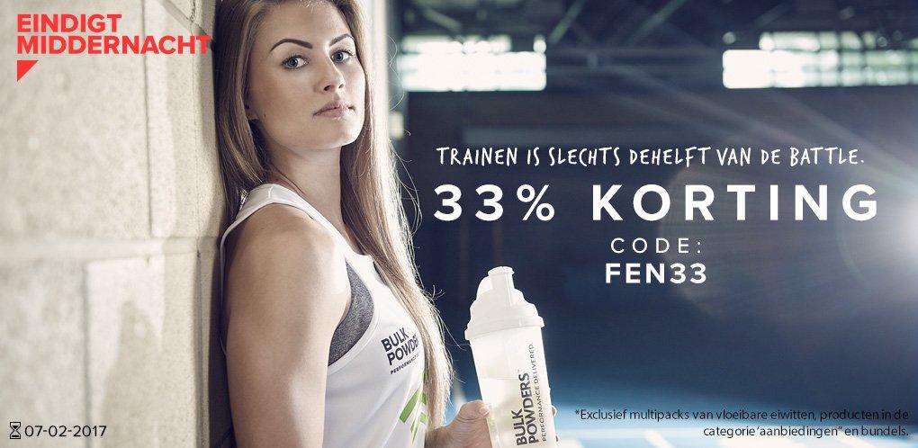 33% korting op alles @ BulkPowders.nl