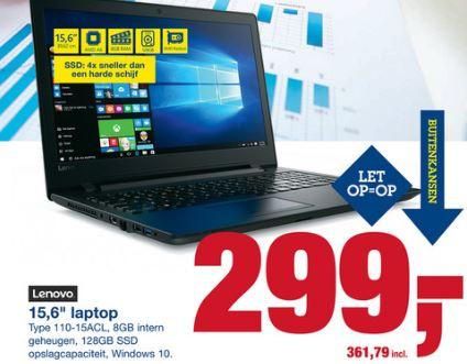 Lenovo IdeaPad 110-15ACL 80TJ00HQMH @ Makro