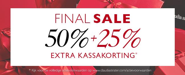 Extra 25% korting op de sale @ Claudia Sträter