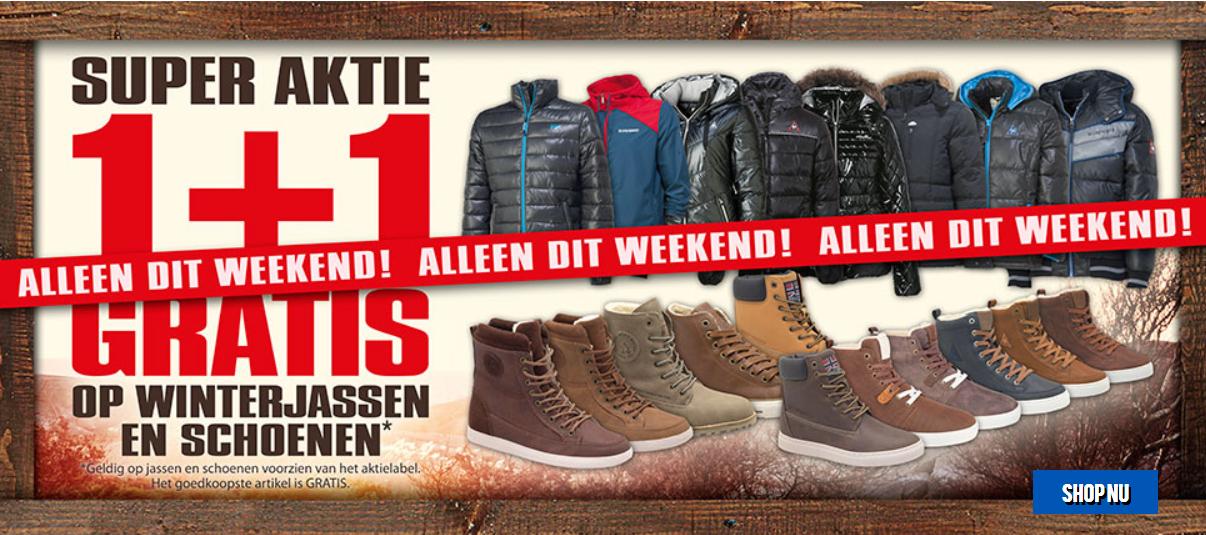 1+1 gratis + 10% extra korting door kortingscode op schoenen en winterjassen @ Aktiesport