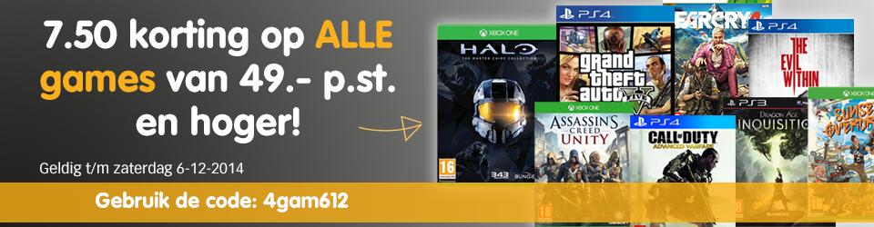 € 7,50 korting op games vanaf €49,- door kortingscode @ Mycom