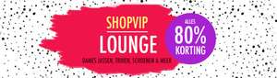 Geen verzendkosten + acties -80% + €5 extra korting @ ShopVIP