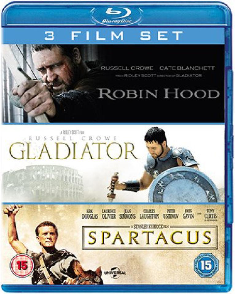 Gladiator, Spartacus en Robin Hood op Blu-ray voor € 7,89 @ Zavvi
