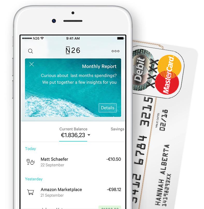 Gratis Duitse bankrekening met Mastercard @ N26