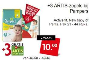 Pampers - Active fit - New baby - Pants - 2 voor €10 @ Dekamarkt
