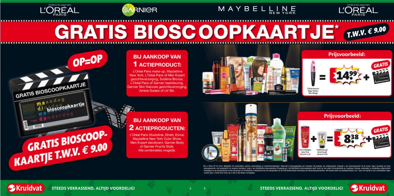 [UPDATE] Gratis MaDiWoDo-bioscoopkaart t.w.v. €9,- bij aankoop van 1 of 2 actieproducten @ Kruidvat
