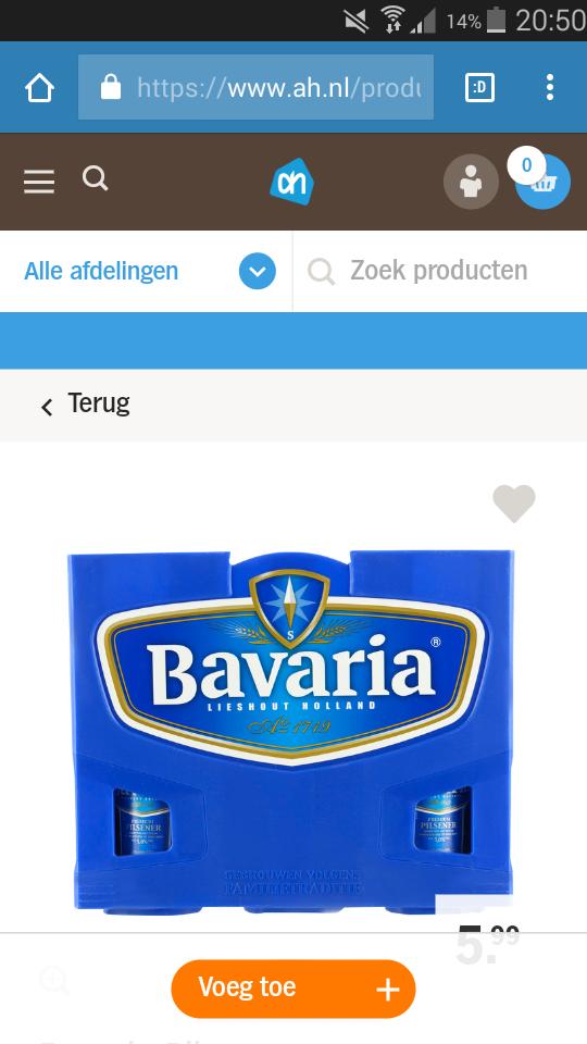 3 Kratten Bavaria bier bij AH voor 9,99 euro