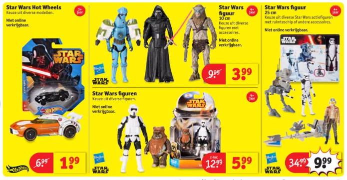 Diverse Star Wars actiefiguren vanaf € 3,99 @ Kruidvat