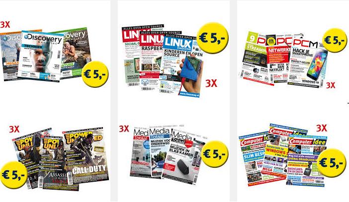 Cadeau abonnement met 3 tijdschriften voor €5,- @ Reshiftstore
