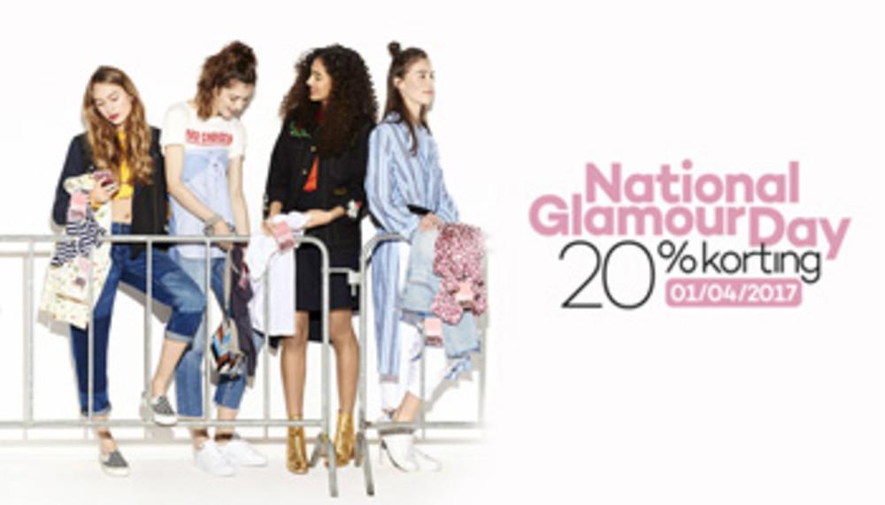 1 april Glamour day 20% bij div. winkels, deels online NU MET CODES!