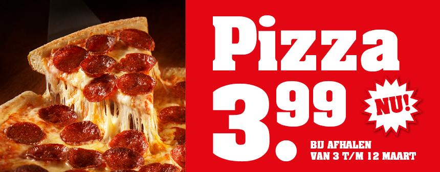 Pizza afhalen voor maar €3,99 @ New York Pizza