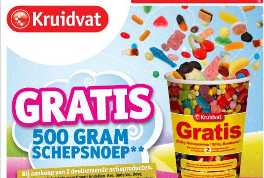 Gratis 500 gr Schepsnoep** bij aankoop 2 actieproducten @ Kruidvat