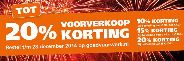 Tot 20% korting op vuurwerk tijdens de voorverkoop @ Goedvuurwerk