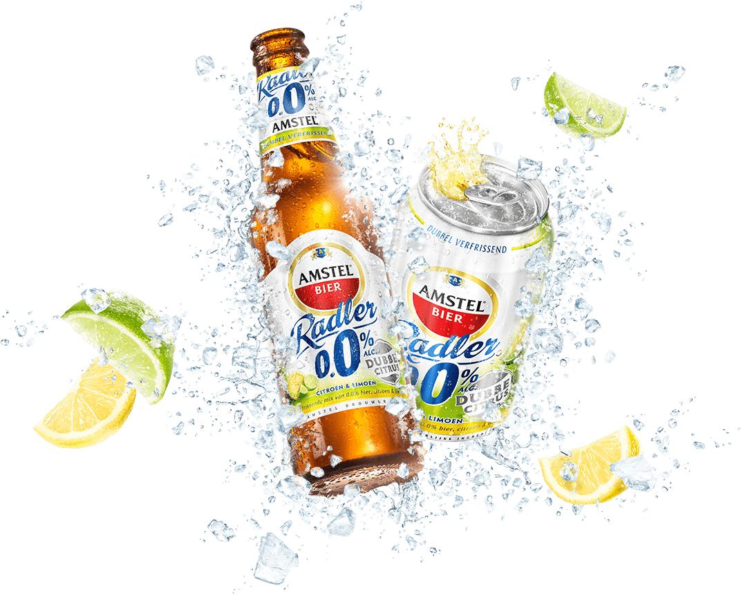 100% cashback Amstel Radler Dubbel Citrus 0.0% 4-pack blik óf 6-pack fles @ Scoupy