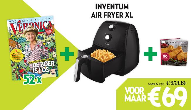Veronica Magazine jaarabonnement + Inventum Air Fryer XL + receptenboek