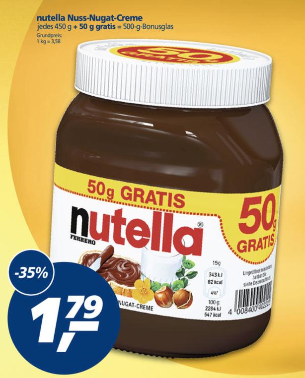 Halve kilo Nutella @ real (DE) [Grensdeal]