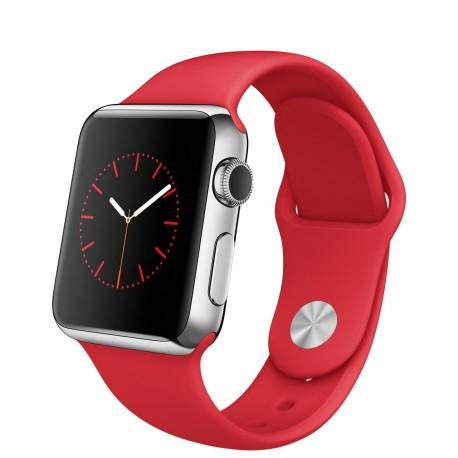 Apple Watch 38MM RVS sportbandje rood