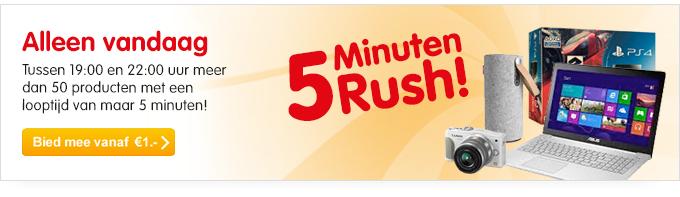 Straks tussen 19:00 en 22:00 5 Minuten Rush Veiling @ Mycom