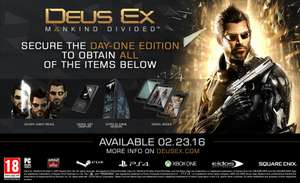 Deus Ex Mankind Divided (Day One Edition PS4) voor €12,82 (ONE - €11,87) @ Yourgamezone