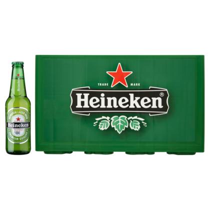 [12-18 maart] Krat Heineken (24 st) 0,3L voor 8,99 euro + Heineken glas gratis @ PLUS
