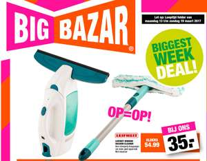 Leifheit Window Vacuüm Cleaner complete set voor €35 @ Big Bazar