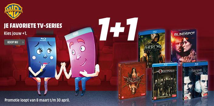 1+1 gratis op tv series [Dvd's en blu-rays] @ Mediamarkt