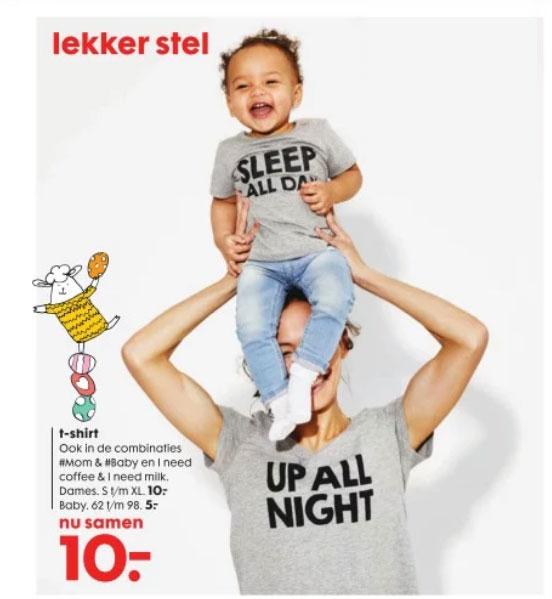 Set: mama + baby t-shirt €10 @ HEMA