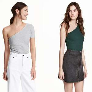 One-shouldertop nu €3,99 (was €12,99) + gratis verzending @ H&M