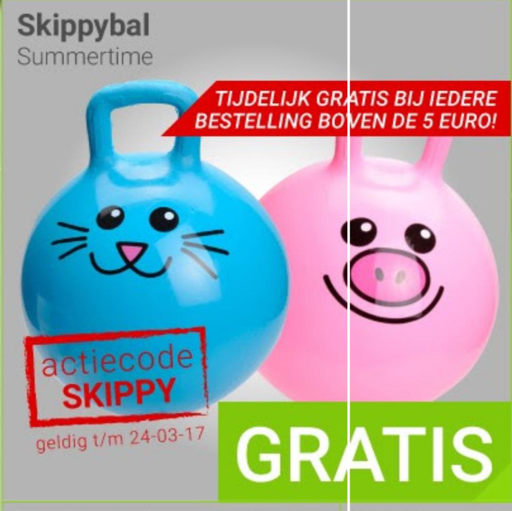 Gratis skippybal bij een minimale besteding van €5 @ Megekko