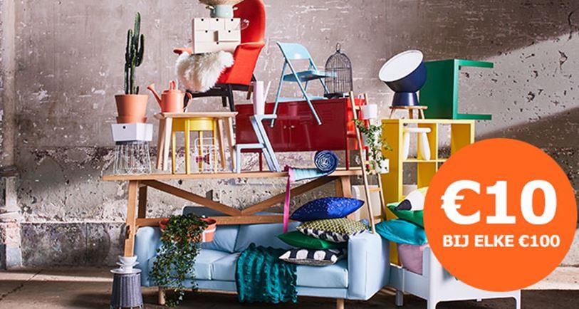Actiepas t.w.v. €10 cadeau bij elke bestede €100 @ IKEA