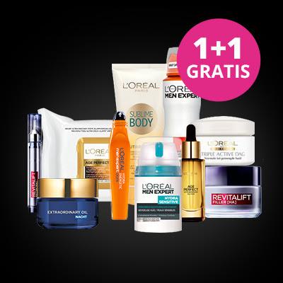 1+1 gratis bij alles van L'Oréal, Maybelline en Garnier + geen verzendkosten @ Drogisterij.net