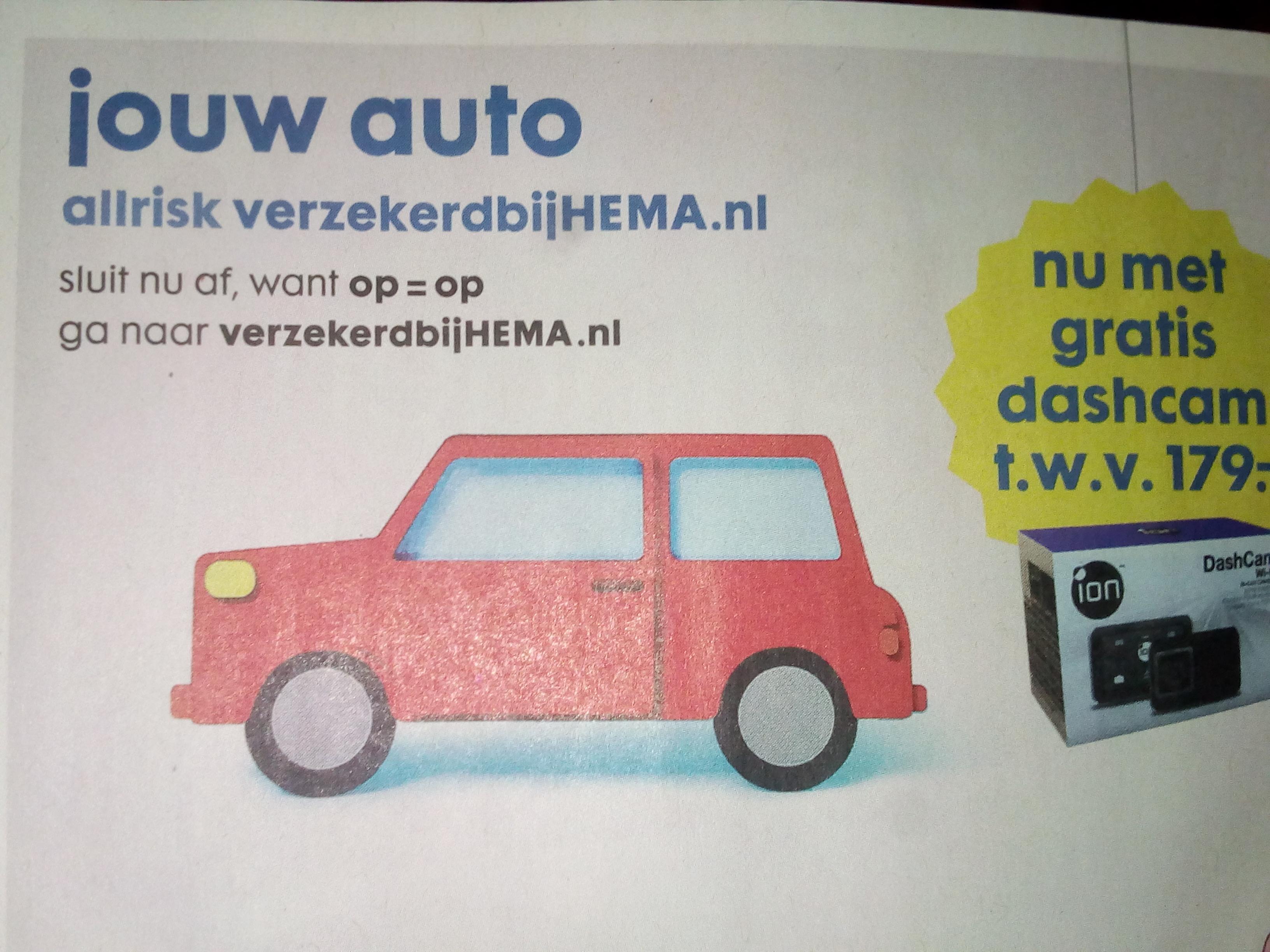 gratis Dashcam t.w.v €179
