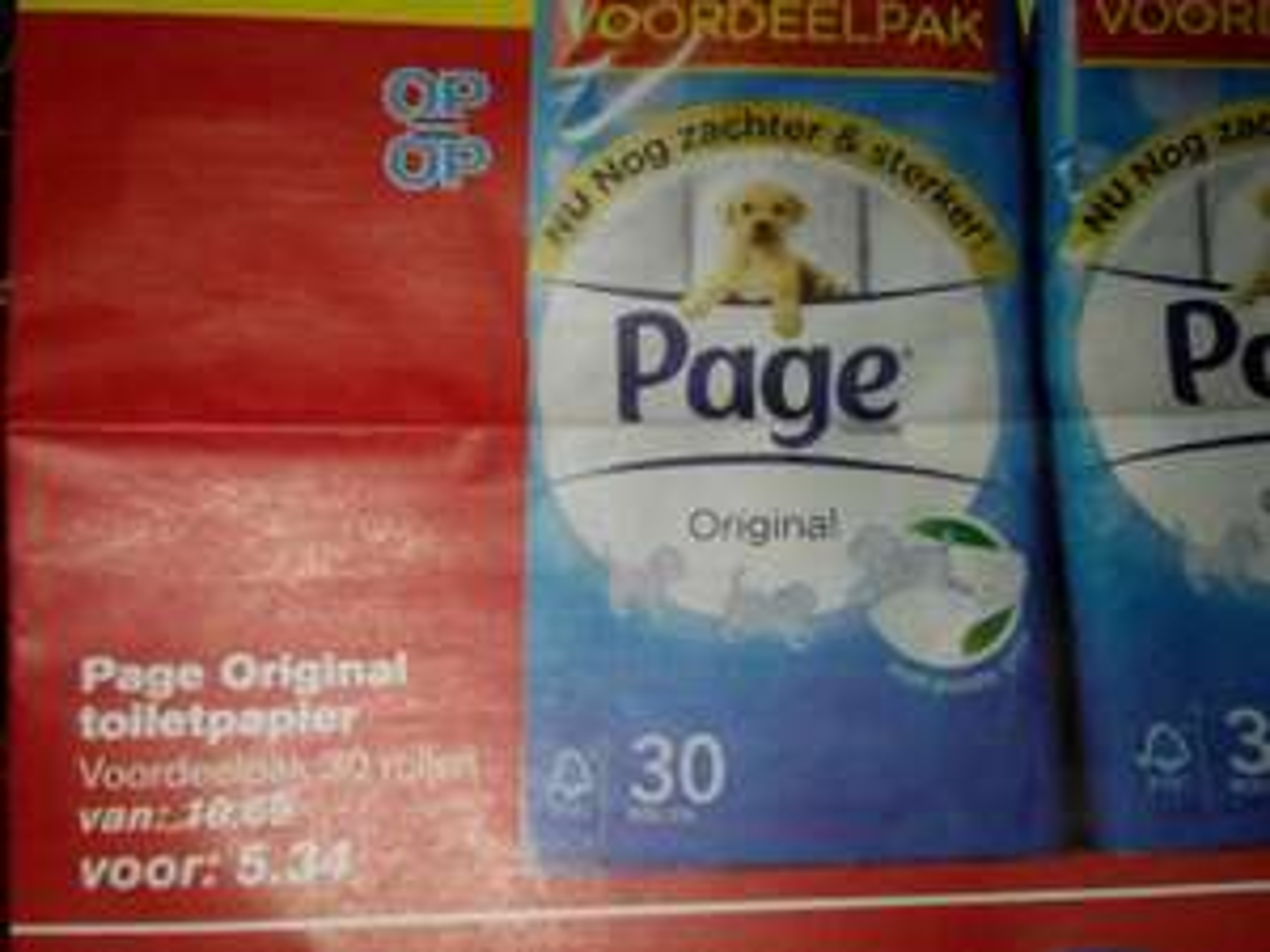 Page Orginal toiletpapier 30 rollen @ Hoogvliet