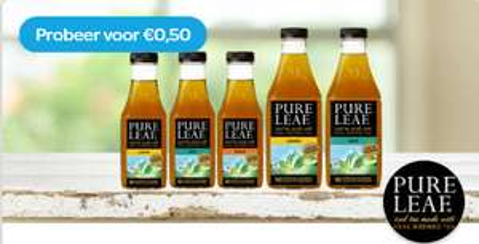 Probeer Pure Leaf IJsthee 1 Ltr of 0,5 Ltr nu voor € 0,50 @ Scoupy