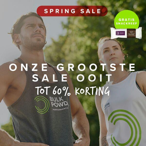 [Alleen nog vandaag] Spring Sale: tot 60% + 20% extra korting op diverse producten @ Bulk Powders