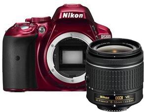 Nikon D5300 + 18-55mm f/3.5-5.6 VR Rood voor €429 @ Foka/Kamera Express