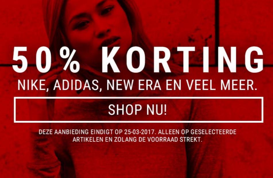 50% Korting op o.a. Nike en Adidas @ Defshop