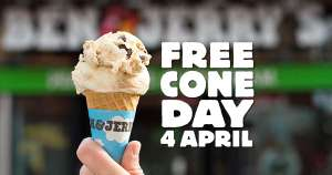 4 april gratis ben & jerry's ijs @benjerry.nl