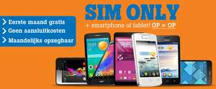 Gratis smartphone bij Sim Only abonnement (maandelijks opzegbaar) @ Studentmobiel