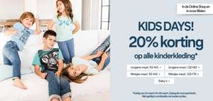 Kids Days: 20% korting op totale collectie + 10% extra korting @ C&A
