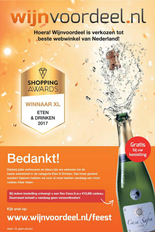 Gratis fles Cava + geen verzendkosten @ wijnvoordeel.nl